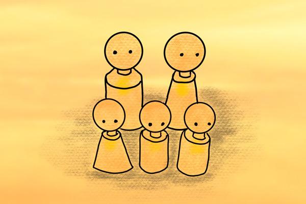 opstelling gezin